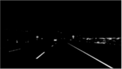 Car lanes with gaussian blurred image