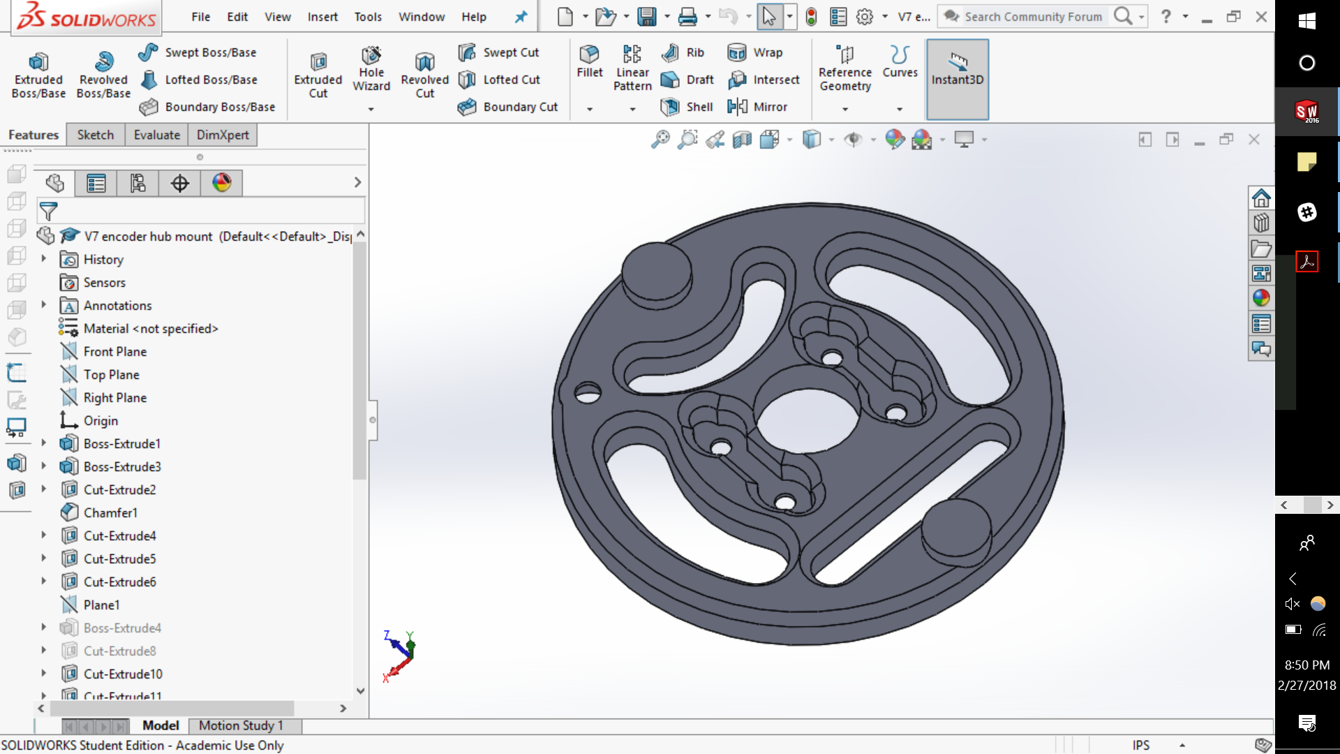 encoder mount CAD