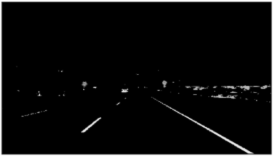 Car lanes with grayscale filter