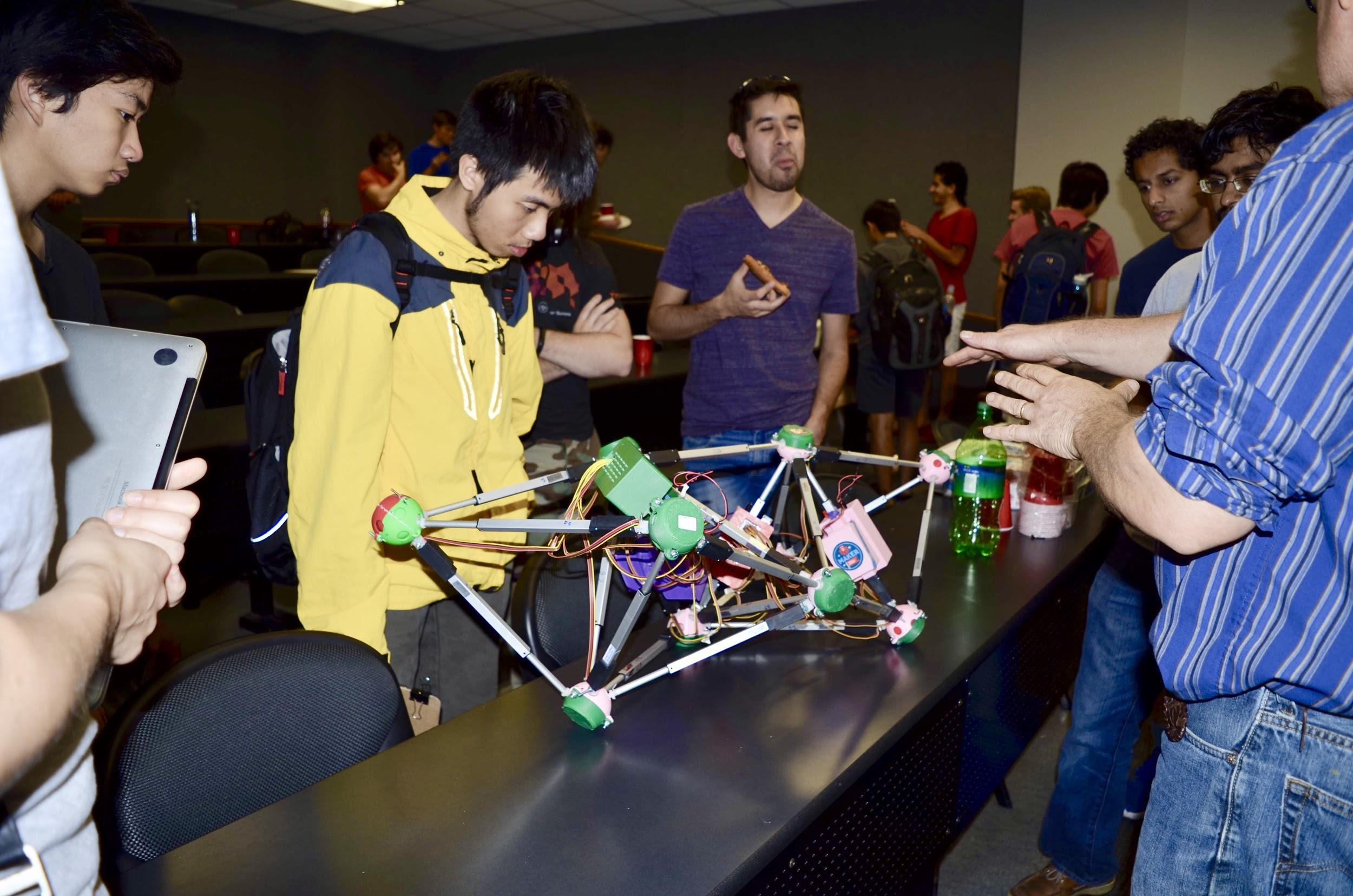 reconfigurable tetrahedron research bot